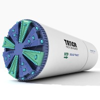 tunnel boring machine 3d max