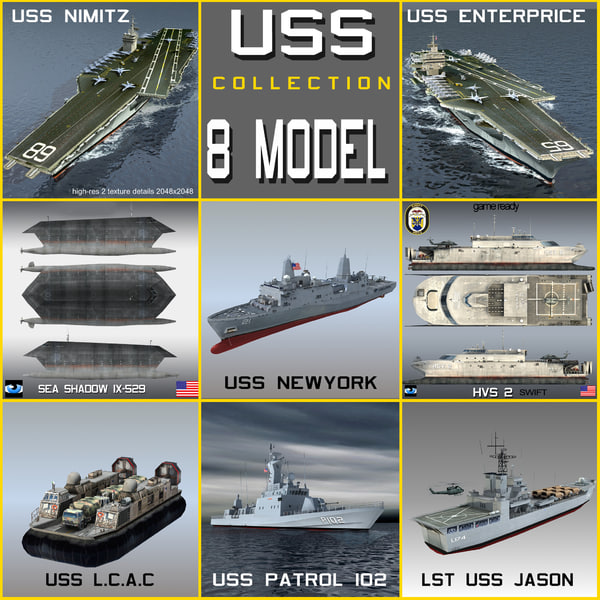 san antonio uss navy 3d model
