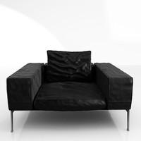 flexform lifesteel 125 armchair 3d model