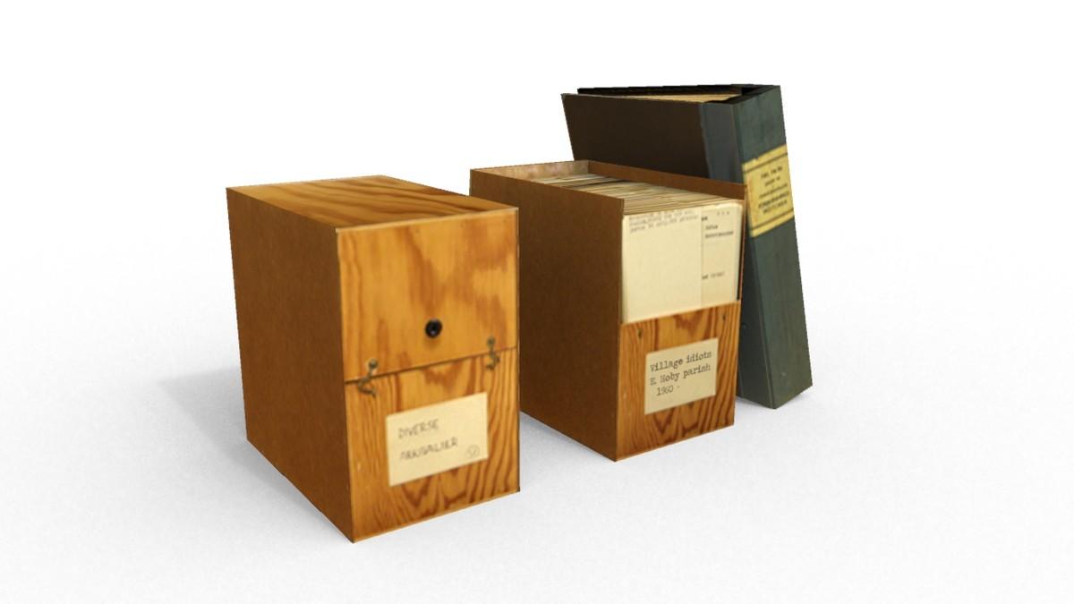 archive wood box binder 3d 3ds