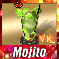 3d model of liquor mojito