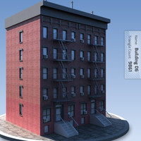 Low Poly Apartment Building 6