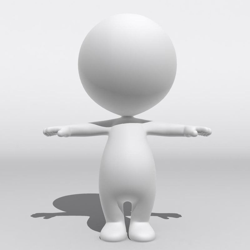 3d rigged biped baby dummy