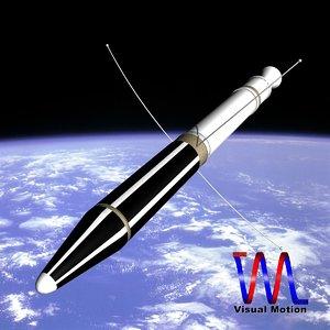 3ds max explorer jupiter missile