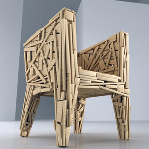 3dsmax edra favela chair
