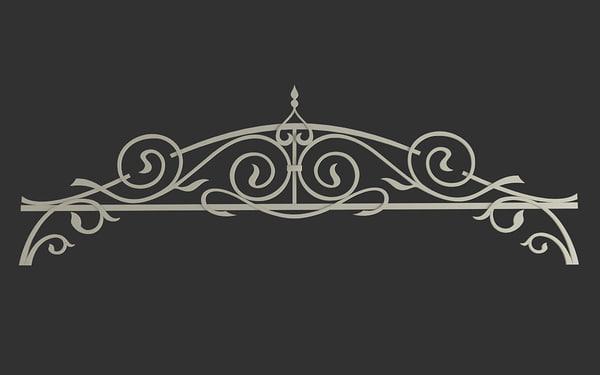 3d model decorative arch