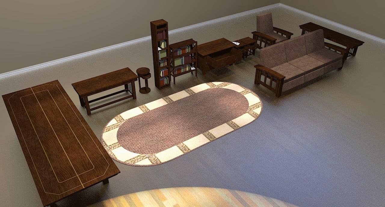 furniture details lounge dxf