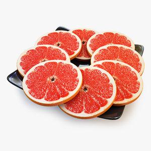 3d lobule grapefruit