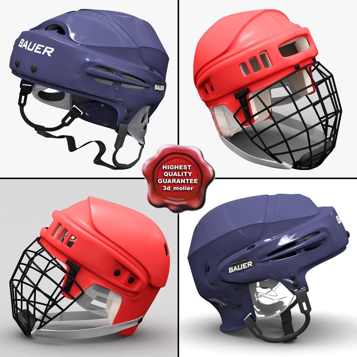 hockey helmets 3d max