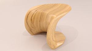 3d model of designer leaf stool