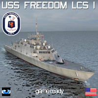3d model uss freedom lcs 1