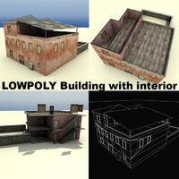 3d weathered building