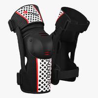 3d model of motorbike evs vision knee