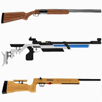 3d model olympic shooting rifles