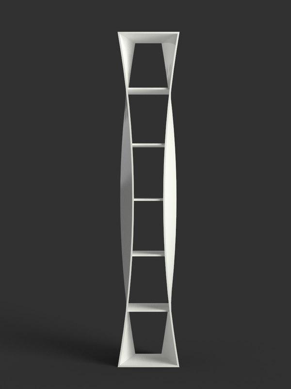 3d bookshelves parentesi model