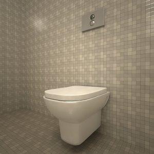 3d vitra retro toilet bowl model