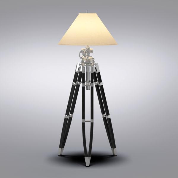 Modelo 3d Hardware De Restauración, Marine Floor Lamp