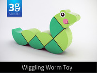 3d max wooden wiggling worm toy