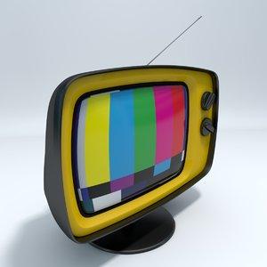 3d retro stylized tv