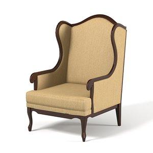 selva timeless armchair 3ds
