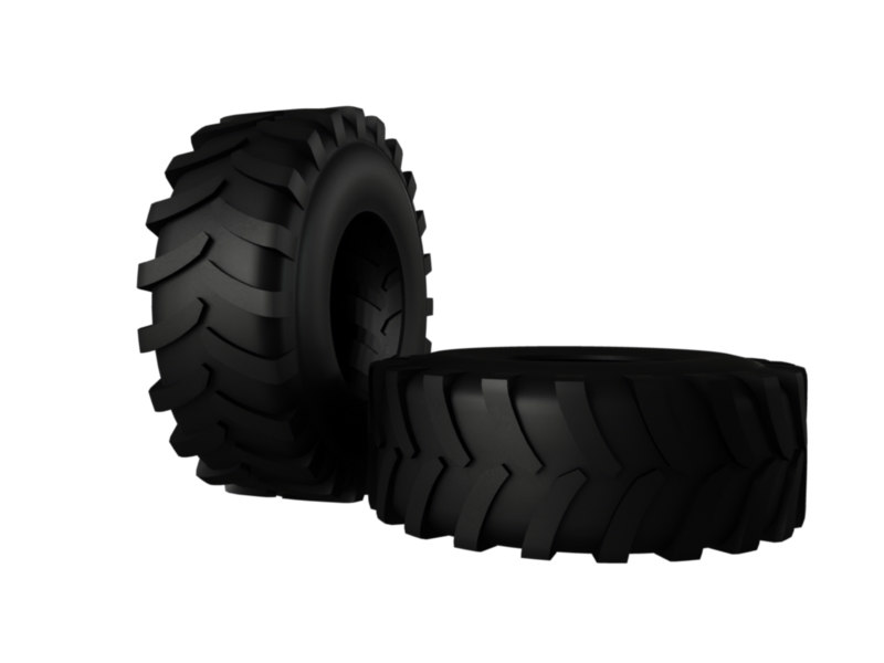 3d tire tyre wheel tractor model