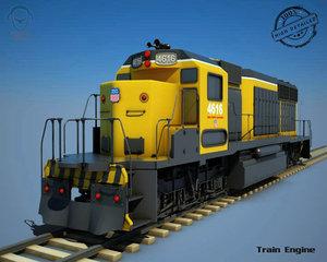 3dsmax train engine