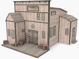 western store 3d model