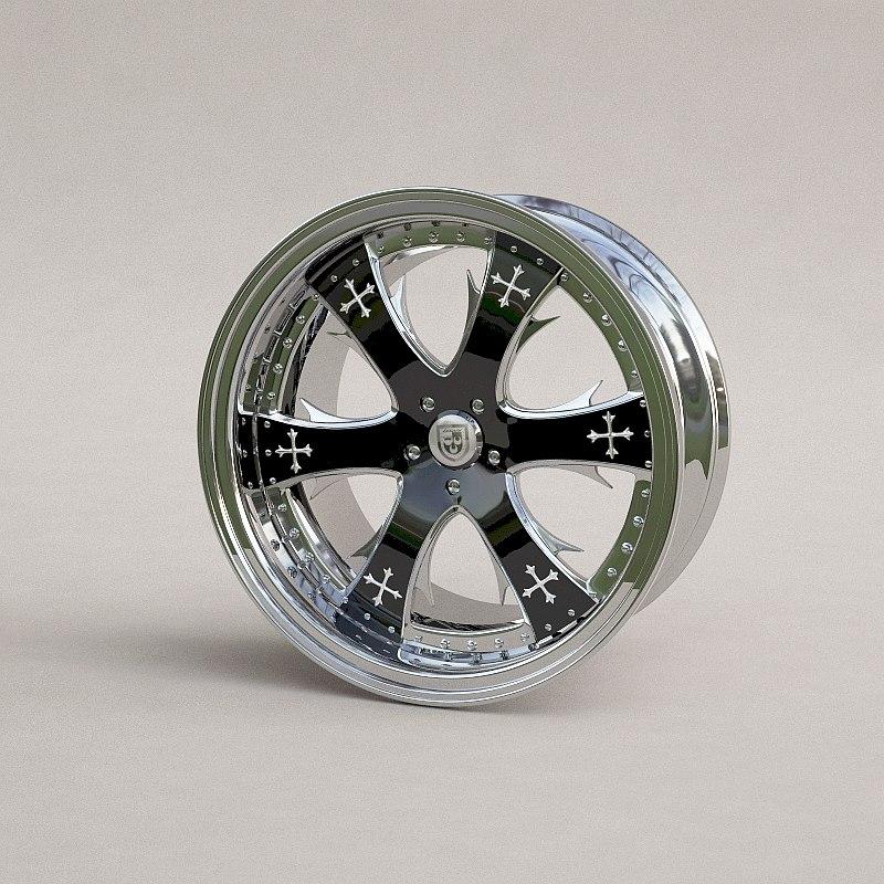 hi-poly lexani wheel disk 3d model