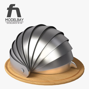 3d model armadillo bread bin