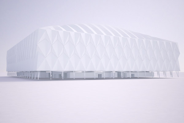 2012 olympic basketball arena 3d model