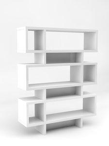 three-tier bookcase 3d model