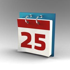 3d day calendar model