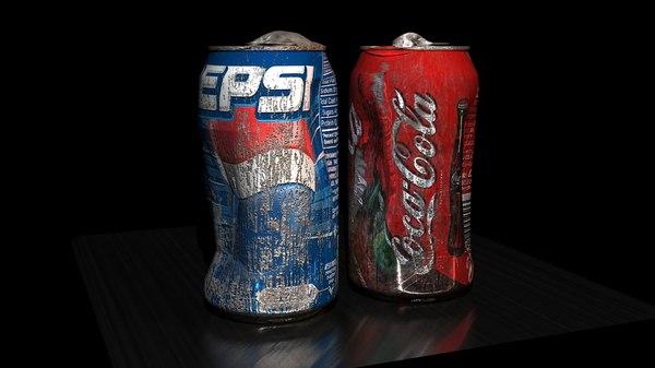 old soft drink 3d max