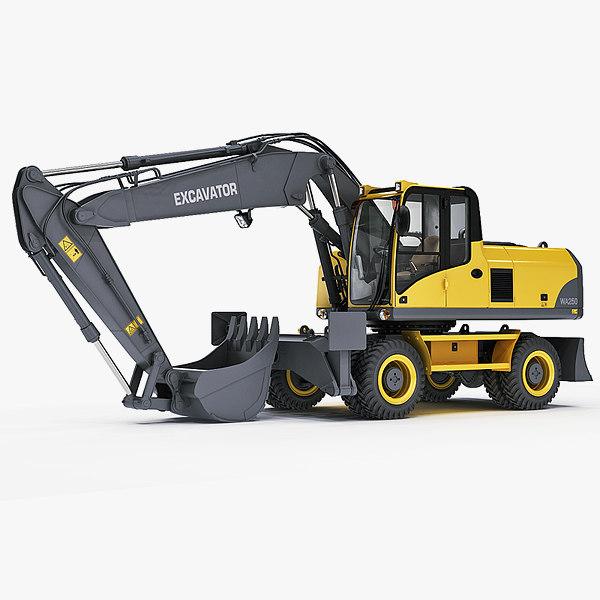 wheel excavator 3d model