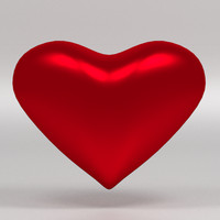 3ds max red heart valentine