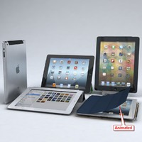 Apple iPad 3 & 4 Wi-Fi + Cellular with Dock & Cover