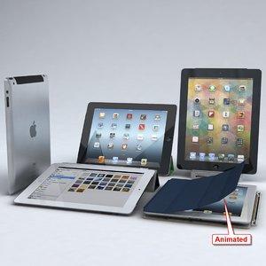 apple ipad 3 4 3d model