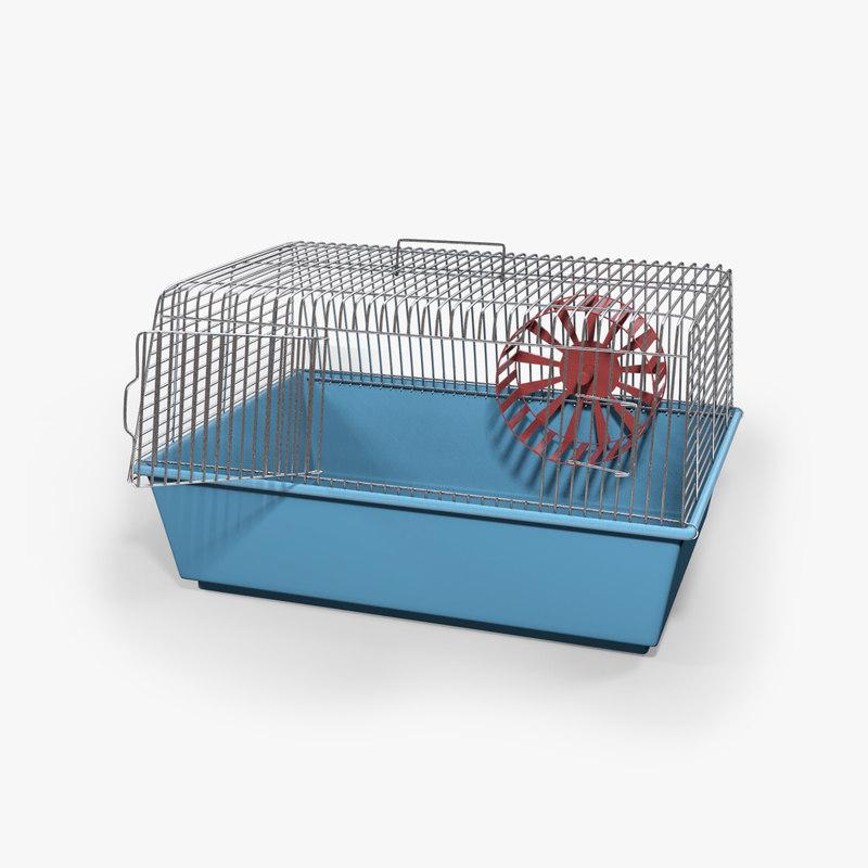 3d cage hamster model