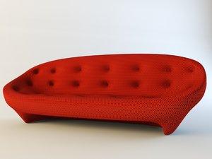 2-seat sofa ploum ligne roset 3d 3ds