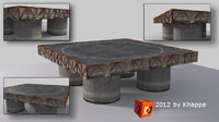 3d platform basement model
