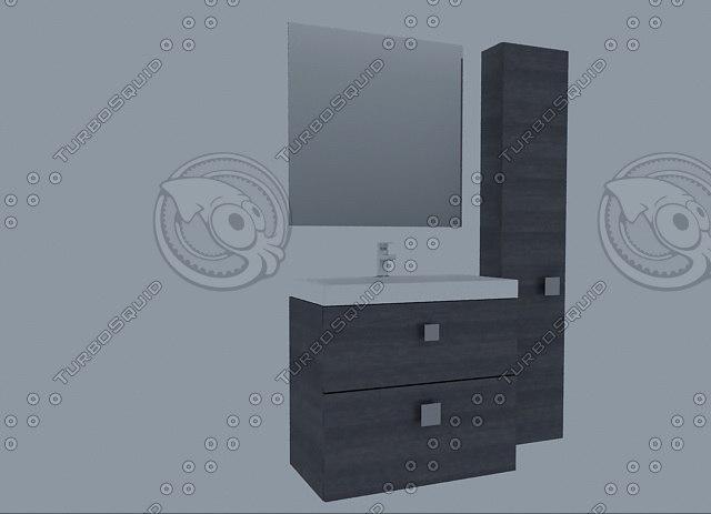 3d model furniture royobath enzo