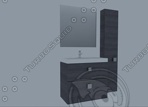 3d model furniture royobath enzo