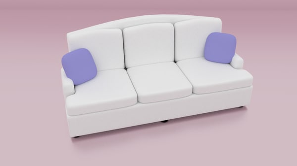 blend white sofa