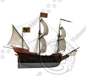 3d spanish galleon ship model