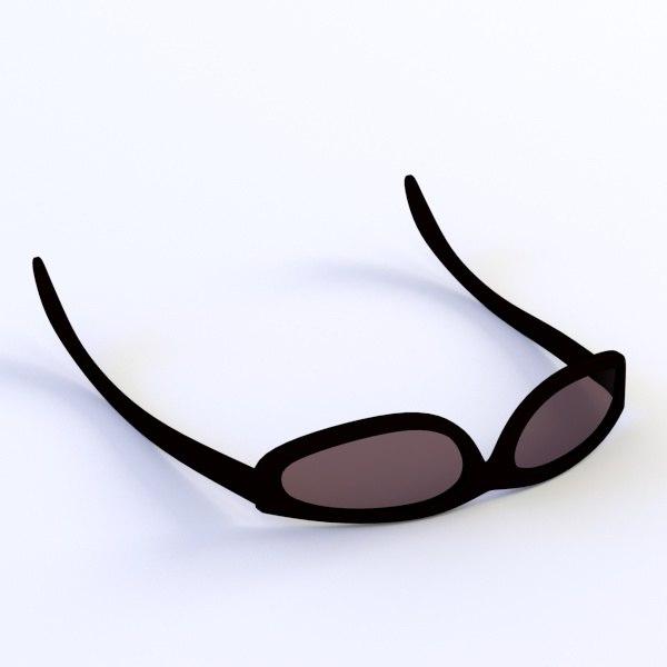 glass sun sunglasses 3ds