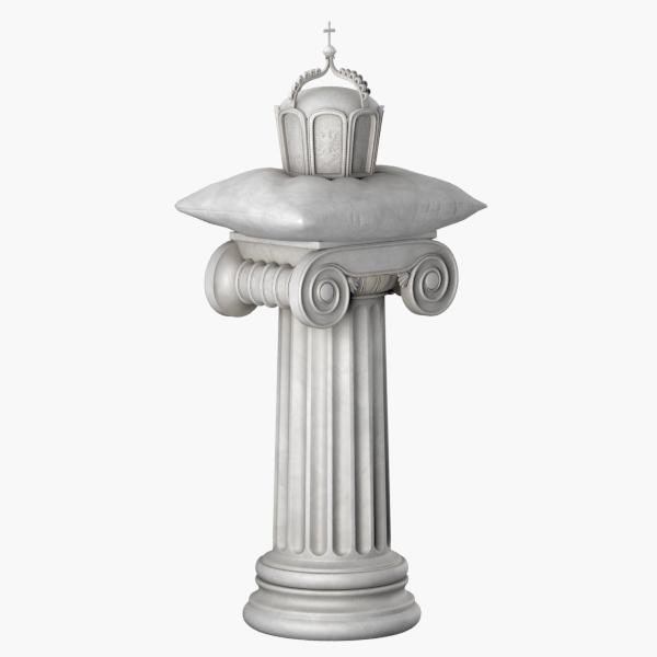 3d ionic pedestal