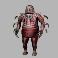 character creature monster 3d model