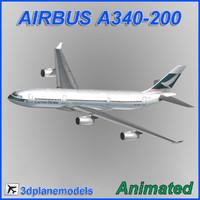 airbus a340-200 3d model