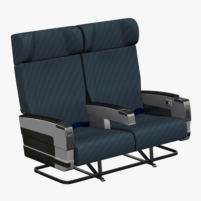 aircraft passenger seats v3 3ds