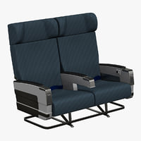aircraft passenger seats v3 3ds